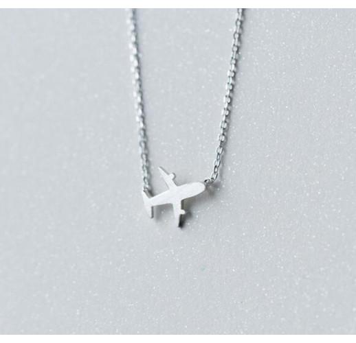 Кулон Travel Plane, Silver 925