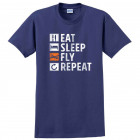 "Футболка ""Eat, Sleep, Fly, Repeat"""