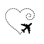 "Наклейка на автомобиль ""Fly with Love"""