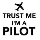 "Наклейка на автомобиль ""Trust me, I am a Pilot"""