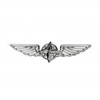 Значок PILOT WINGS silver 5cm