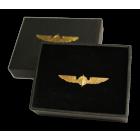 Значок PILOT WINGS MEDIUM silver/gold 3,5cm