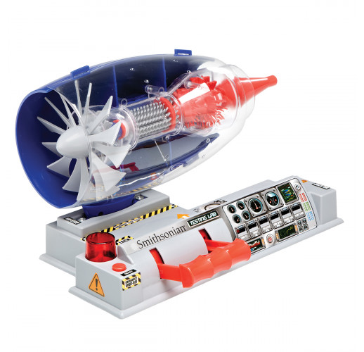 Игрушка, двигатель, Smithsonian Test Jet Engine Model Kit
