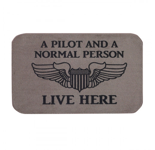 Коврик придверный, A Pilot and A Normal Person Live Here Doormat