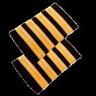 Погоны гражданской авиации, 4 полосы (Gold)