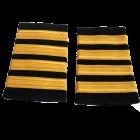 Погоны гражданской авиации, 4 полосы (Yellow mat)