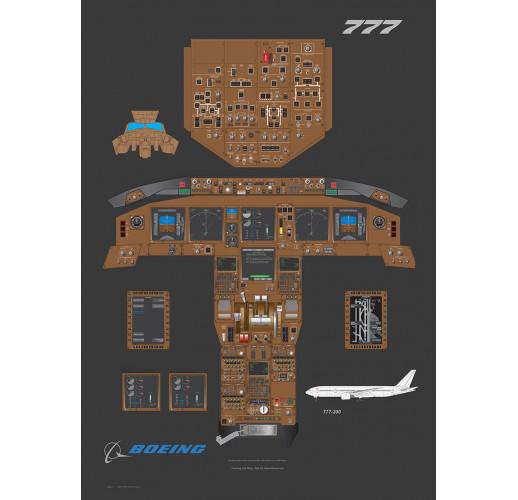 Кабина Boeing 777 (Ткань атлас, Aerospace Design)